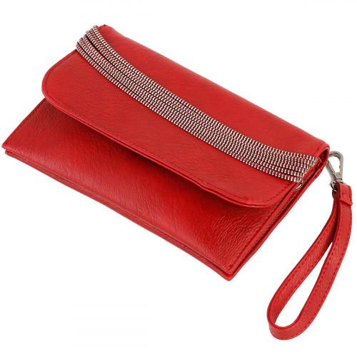 Show Story Women's Girls Punk Black/Red Zip Fashion Outdoor Crossbody Bag Handbag,FB90011