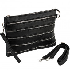 Show Story Women's Girls Punk Black Envelope Bag Retro Rock Personalities Handbag,FB90012