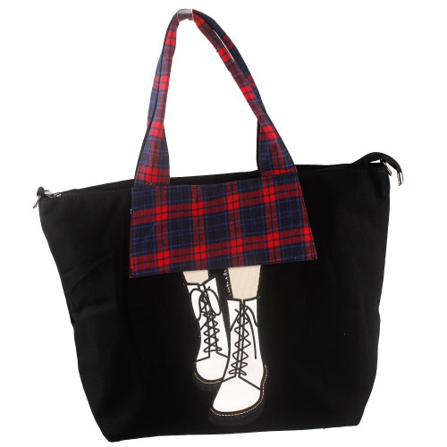 Show Story Women's Girls Black Stiletto High-heel Fashion Design Handbag Shoulder Bag,FB90027