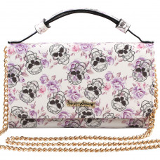 Show Story Dazzling Women's Girls Bow Two Tone Flap Clutch Bag Evening Bag With Detachable Chain,FB90029PP00