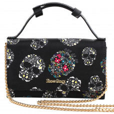 Show Story Dazzling Women's Girls Bow Two Tone Flap Clutch Bag Evening Bag With Detachable Chain,FB90030BK00