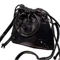 Show Story Women Girls Biker Studded Punk Style Shoulder Bag Casual Daypack Backpacks FBTS004BK00
