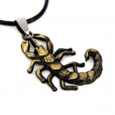 SCOO Fashion Skull Glittery Artificial Gem Cross Amulet Pendant Necklace FS90001JE00