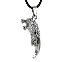 SCOO Fashion Skull Glittery Artificial Gem Cross Amulet Pendant Necklace FS90009JE00
