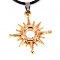 SCOO Fashion Skull Glittery Artificial Gem Cross Amulet Pendant Necklace FS90010JE00