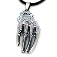 SCOO Fashion Hand of Buddha Buddhist Symbol Natural Stone Amulet Pendant Necklace FS90015JE00