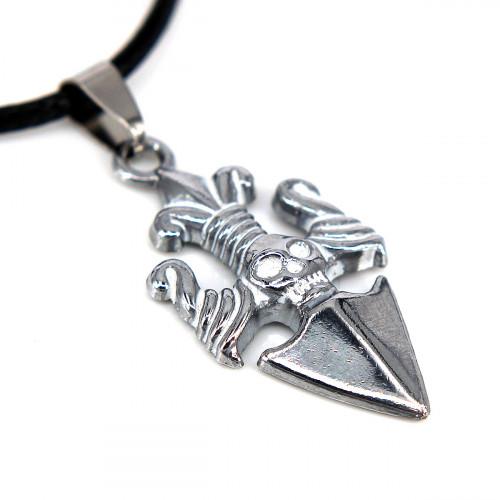 SCOO Fashion Hand of Buddha Buddhist Symbol Natural Stone Amulet Pendant Necklace FS90017JE00