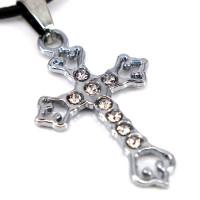 SCOO Fashion Hand of Buddha Buddhist Symbol Natural Stone Amulet Pendant Necklace FS90029JE00