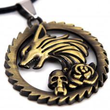 SCOO Fashion Hand of Buddha Buddhist Symbol Natural Stone Amulet Pendant Necklace FS90051JE00