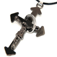 SCOO Fashion Hand of Buddha Buddhist Symbol Natural Stone Amulet Pendant Necklace FS90052JE00