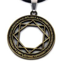 SCOO Fashion Hand of Buddha Buddhist Symbol Natural Stone Amulet Pendant Necklace FS90056JE00