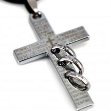 SCOO Fashion Hand of Buddha Buddhist Symbol Natural Stone Amulet Pendant Necklace FS90066JE00