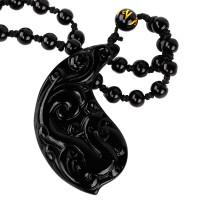 SCOO Fashion Hand of Buddha Buddhist Symbol Natural Stone Amulet Pendant Necklace FS90158FC00