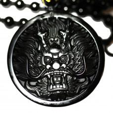 SCOO Fashion Hand of Buddha Buddhist Symbol Natural Stone Amulet Pendant Necklace FS90188FC00