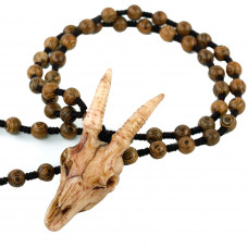 SCOO Handmade Bone Carving Antelope Skull Pendant Tribal Totem Necklace - Outdoor Amulet Jewelry
