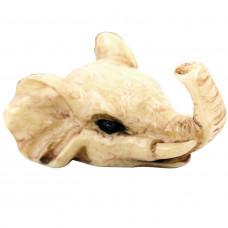 SCOO Handmade Bone Carving Elephant Head Skull Pendant Tribal Totem Necklace - Outdoor Amulet Jewelry