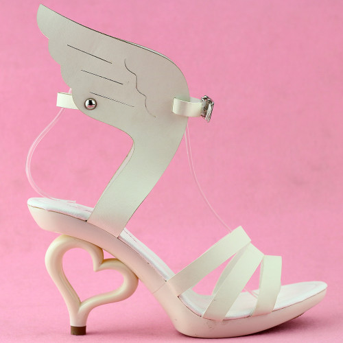 SHOW STORY Strappy Ankle Strap Bride Wedding Dancing Heart Heels Sandals SM36822
