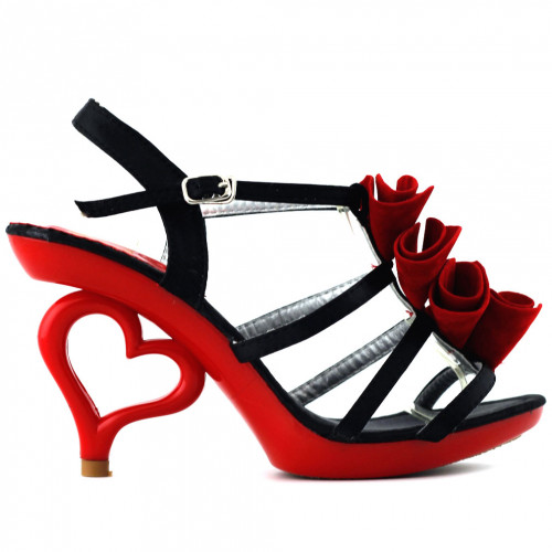 Show Story Strappy Ankle Strap Bride Wedding Dancing Heart Heels Sandals SM03619